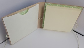 Inside 3x3 sticky note holder with file pocket for gift card